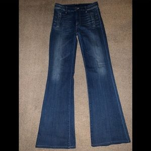 "MOTHER  ""The Drama"" wide leg jeans size 27 long"